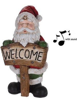 Kerstman XL met licht en geluid - 72cm
