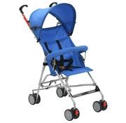 vidaXL Kinderwagen inklapbaar staal blauw