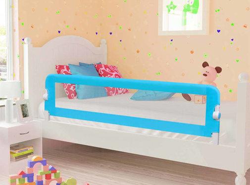vidaXL Bedhekje peuter 120x42 cm polyester blauw