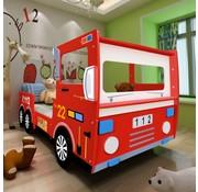 vidaXL Kinderbed brandweerwagen met traagschuim matras 200x90 cm