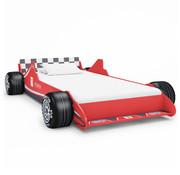 vidaXL Kinderbed raceauto 90x200 cm rood