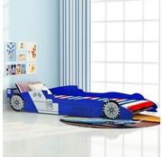 vidaXL Kinder race auto bed 90x200 cm blauw