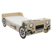 vidaXL Kinderbed terreinwagen 90x200cm camouflage