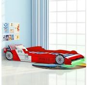 vidaXL Kinder raceauto bed met LED-verlichting 90x200 cm rood