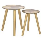 vidaXL 2-delige tafeltjesset 40x45 cm/30x40 cm MDF goudkleurig