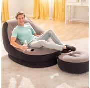 Intex Opblaasstoel met poef Ultra Lounge Relax 68564NP
