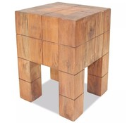 vidaXL Kruk 28x28x40 cm massief gerecycled hout