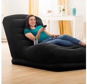 Intex Mega lounger opblaasbaar kunstleer zwart