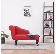 vidaXL Chaise longue kunstleer rood