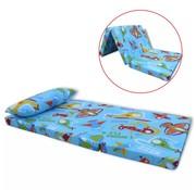 vidaXL Matras voor kinderen opvouwbaar vliegtuigpatroon