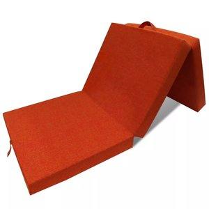 vidaXL Schuimmatras opklapbaar oranje 190x70x9 cm