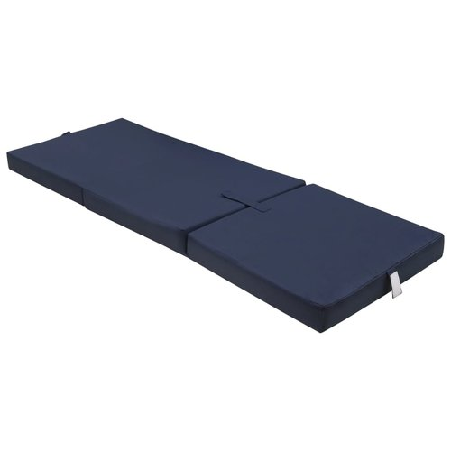 vidaXL Schuimmatras opklapbaar blauw 190x70x9 cm
