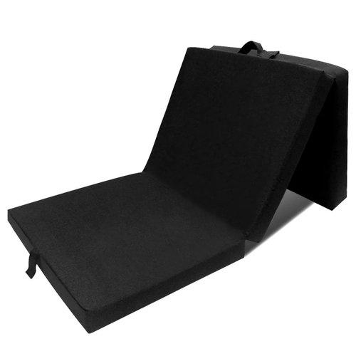 vidaXL Schuimmatras opklapbaar zwart 190x70x9 cm