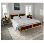vidaXL Bedframe met nachtkastjes massief acaciahout