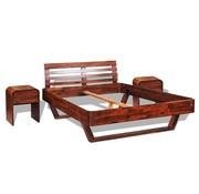 vidaXL Bedframe met 2 nachtkastjes 140x200 cm massief acaciahout