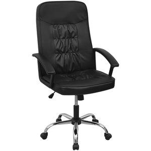 vidaXL Bureaustoel 67x70 cm kunstleer zwart