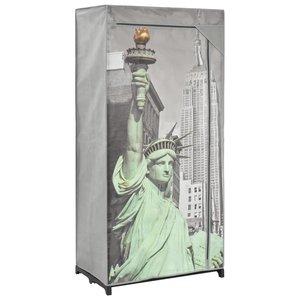 vidaXL Kledingkast New York 75x45x160 cm stof
