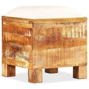 vidaXL Opslagbankje 40x40x45 cm massief gerecycled hout