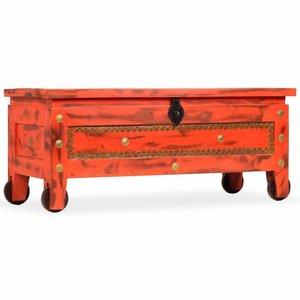 vidaXL Opbergkist 101x39x42 cm massief mangohout rood