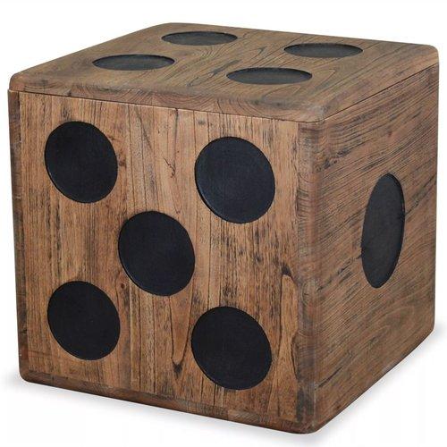 vidaXL Opslagkist dobbelsteen 40x40x40 cm witte cederhout
