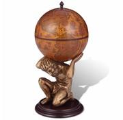 vidaXL Globebar Atlas 42x42x85 cm