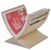 vidaXL Tijdschriftenrek staand hout