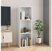 vidaXL Boekenkast/Tv-meubel 36x30x114 cm spaanplaat wit