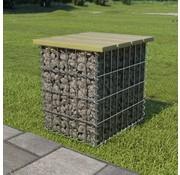 vidaXL Tuinkruk 40x40x45 cm gegalvaniseerd staal FSC grenenhout