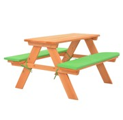 vidaXL Kinderpicknicktafel met banken 89x79x50 cm massief vurenhout