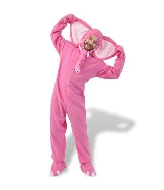 Carnavalskostuum olifant M-L roze