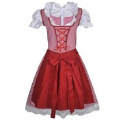 vidaXL Dirndl jurk Oktoberfest met schort rood L/XL