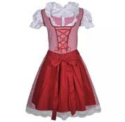 vidaXL Dirndl jurk Oktoberfest met schort rood M/L