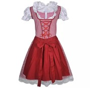 vidaXL Dirndl jurk Oktoberfest met schort rood S/M