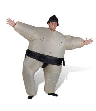 Opblaasbaar Sumo worstelaars kostuum