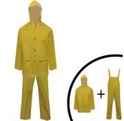 vidaXL Tweedelig regenpak waterbestendig met capuchon geel L