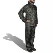 vidaXL Regenpak 2-delig met capuchon (heren / camouflage / maat XXL)