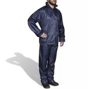 vidaXL Regenpak 2-delig met capuchon (heren / marineblauw / maat L)