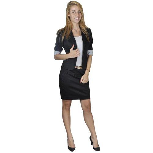 vidaXL Mantelpak met blazer en rok (maat 36 / zwart)