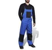 vidaXL Tuinbroek voor man blauw maat L