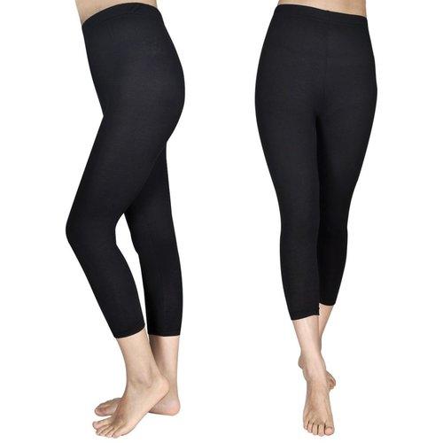 vidaXL 3/4 Legging voor meisjes maat 110/116 (zwart) set van 2