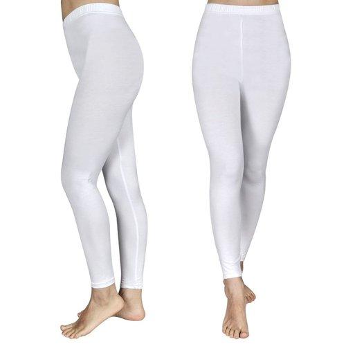 vidaXL Legging voor meisjes maat 134/140 (wit) set van 2