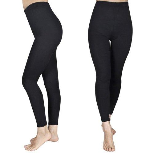 vidaXL Legging voor meisjes maat 110/116 (zwart) set van 2