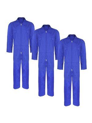 Overall volwassenen maat M blauw 3 stuks