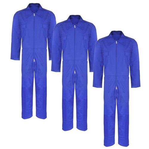Overall volwassenen maat S blauw 3 stuks
