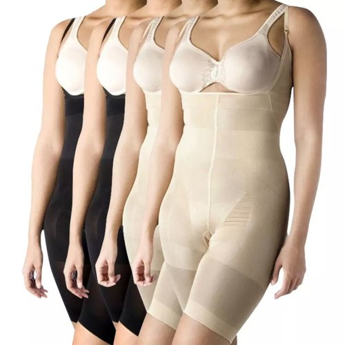 vidaXL Full-body shapewear vrouwen (zwart/beige / 4 stuks / maat XXL)