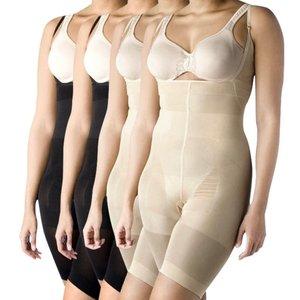vidaXL Full-body shapewear vrouwen (zwart/beige / 4 stuks / maat XL)
