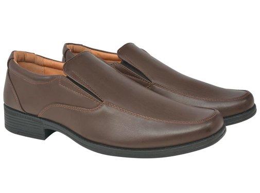 vidaXL Heren loafers bruin maat 42 PU leer