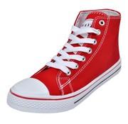vidaXL Klassieke hoge dames sneakers rood (maat 40)