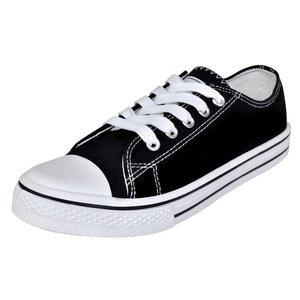 vidaXL Klassieke lage dames sneakers zwart (maat 37)