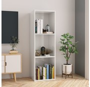 vidaXL Boekenkast/Tv-meubel 36x30x114 cm spaanplaat hoogglans wit